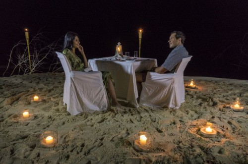Couple Private Beach Dinner