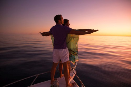 Couple Sunset Cruise Romance