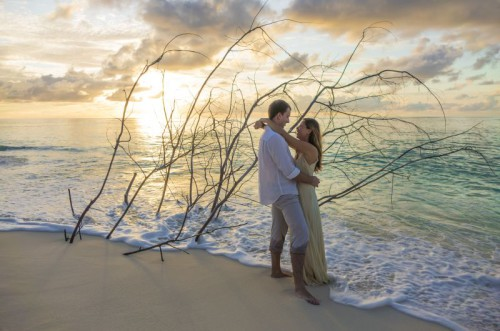 Wedding Couple 2 Driftwood Sunset