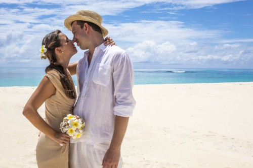 Weddings Beach Kiss